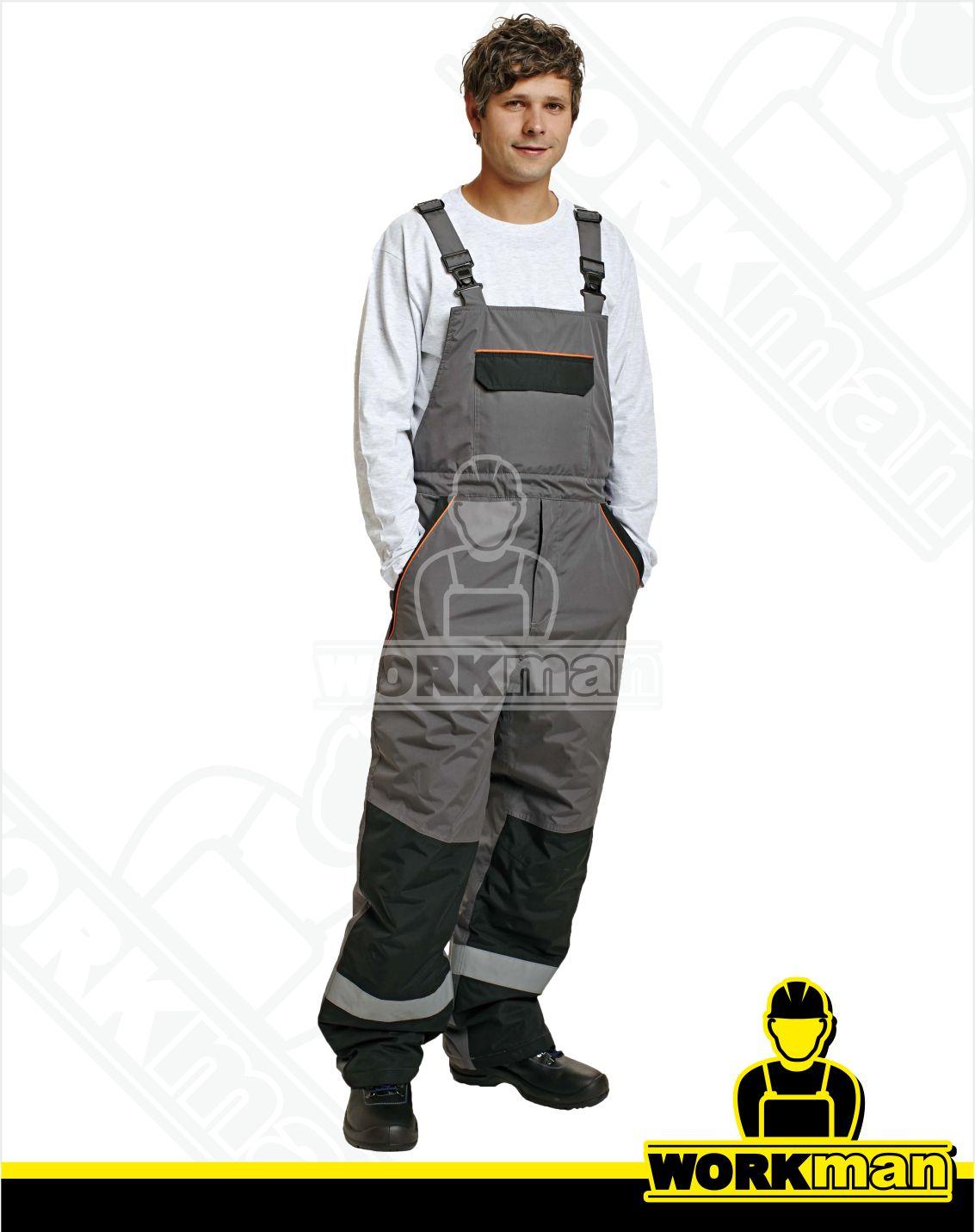 ada1a947fa59 Zateplené montérkové nohavice EMERTON WINTER s náprsenkou Červa