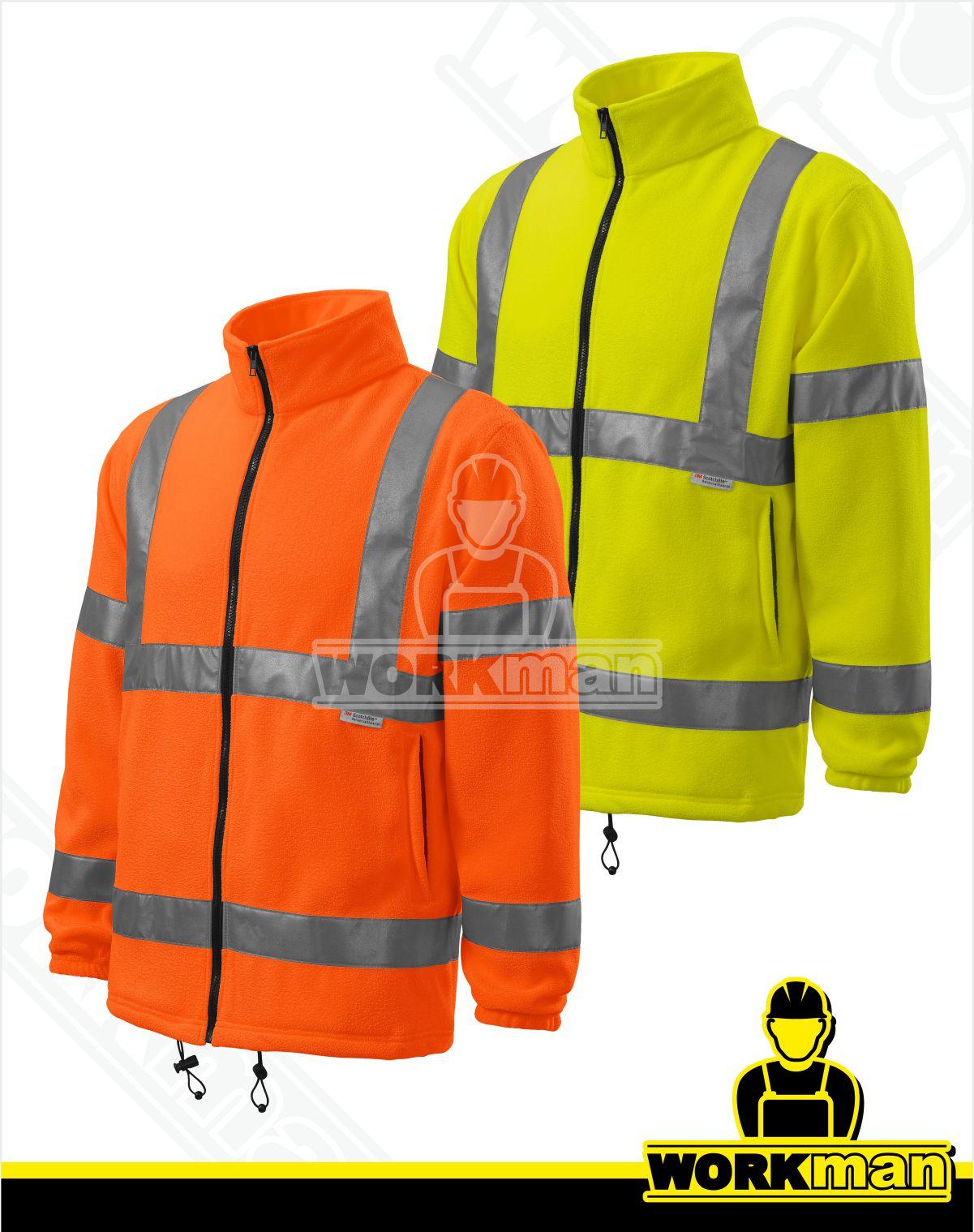 836f9e6aa587 Reflexná fleece bunda HV FLEECE JACKET 5V1 Rimeck žltá Pracovné odevy