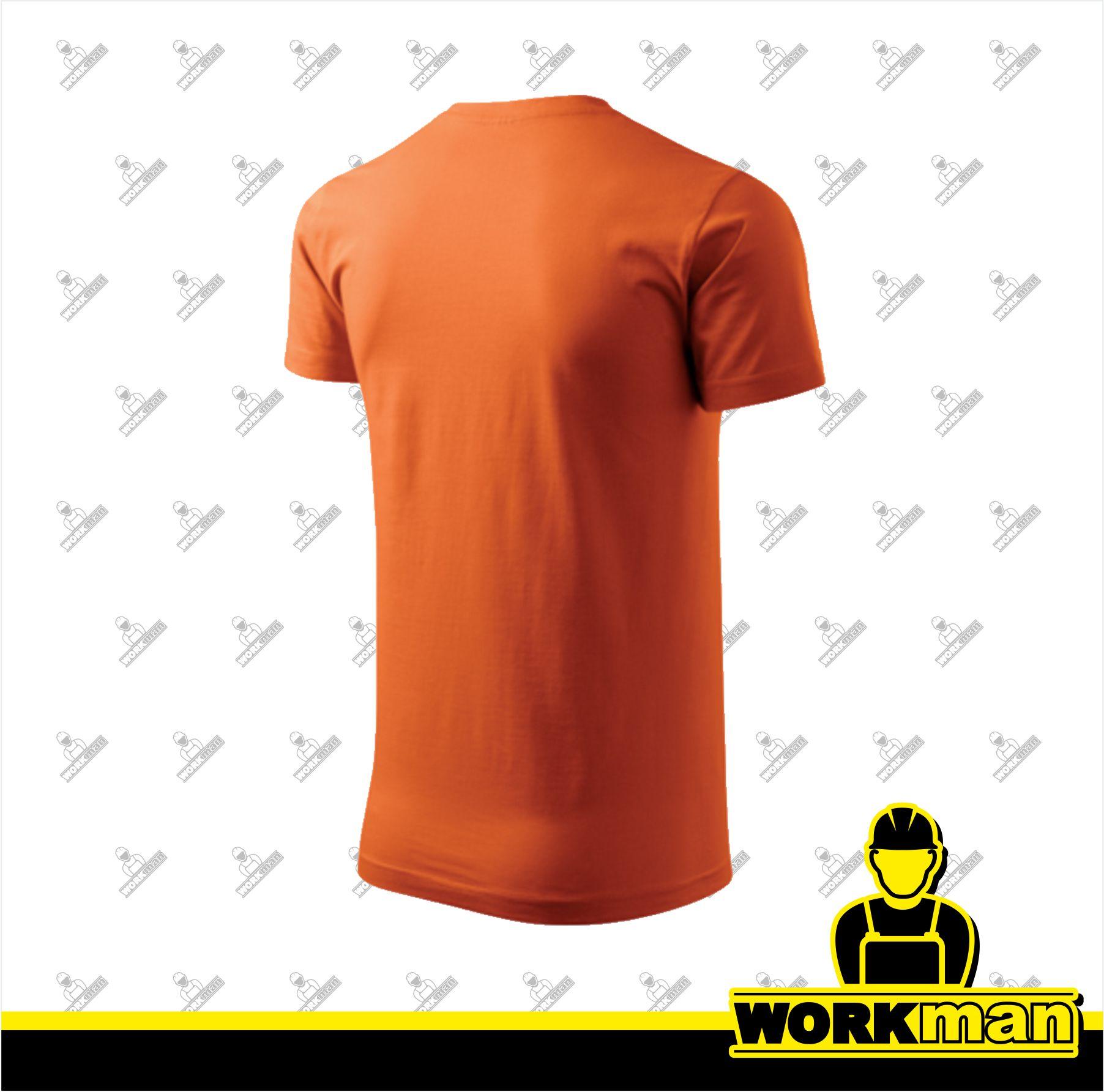 fa8504e42d3 Tričko pánske BASIC 160 Adler oranžová Pracovné odevy Workman