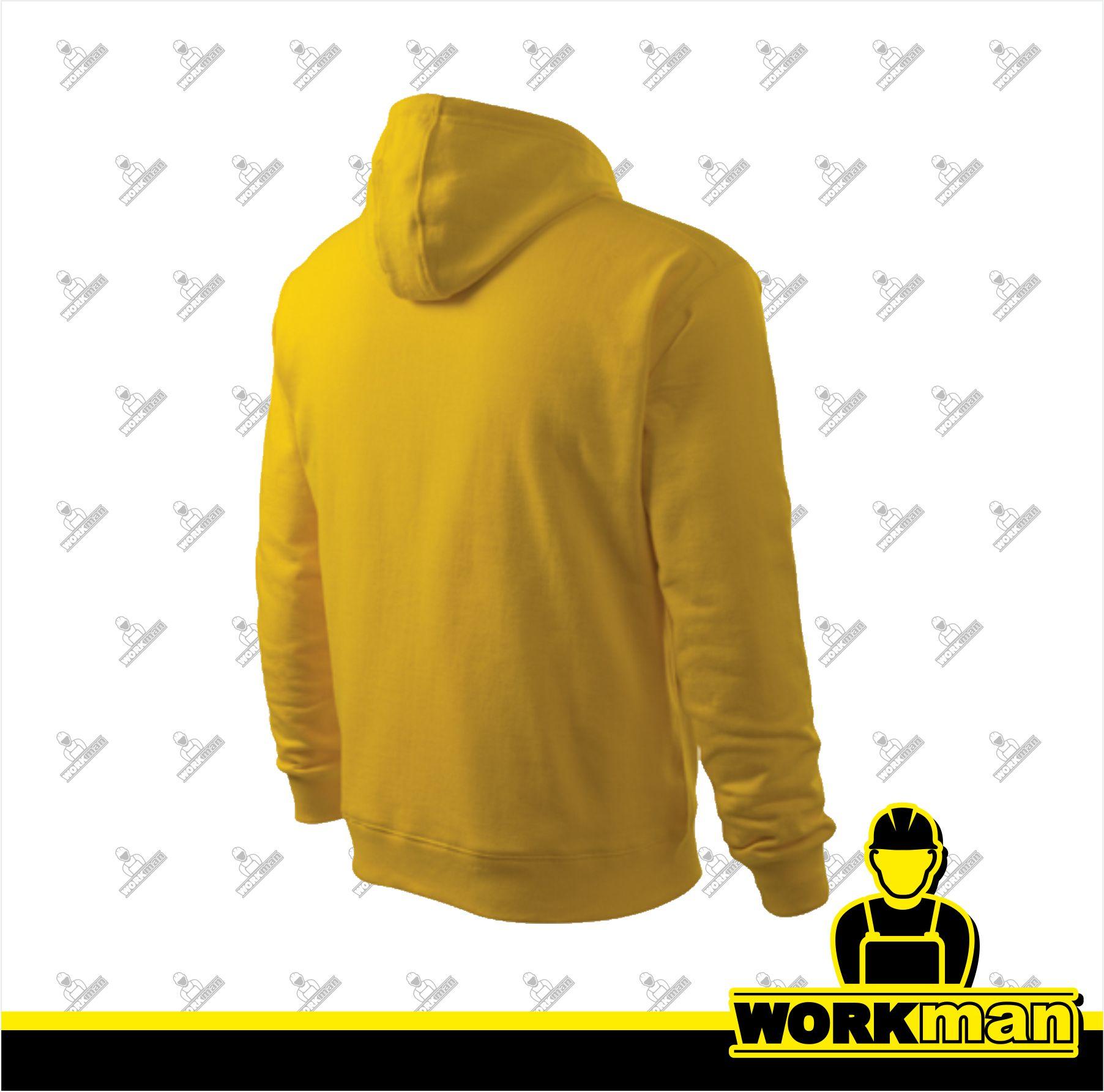 75c98f476fb Mikina pánska HOODED SWEATER Adler žltá Pracovné odevy Workman