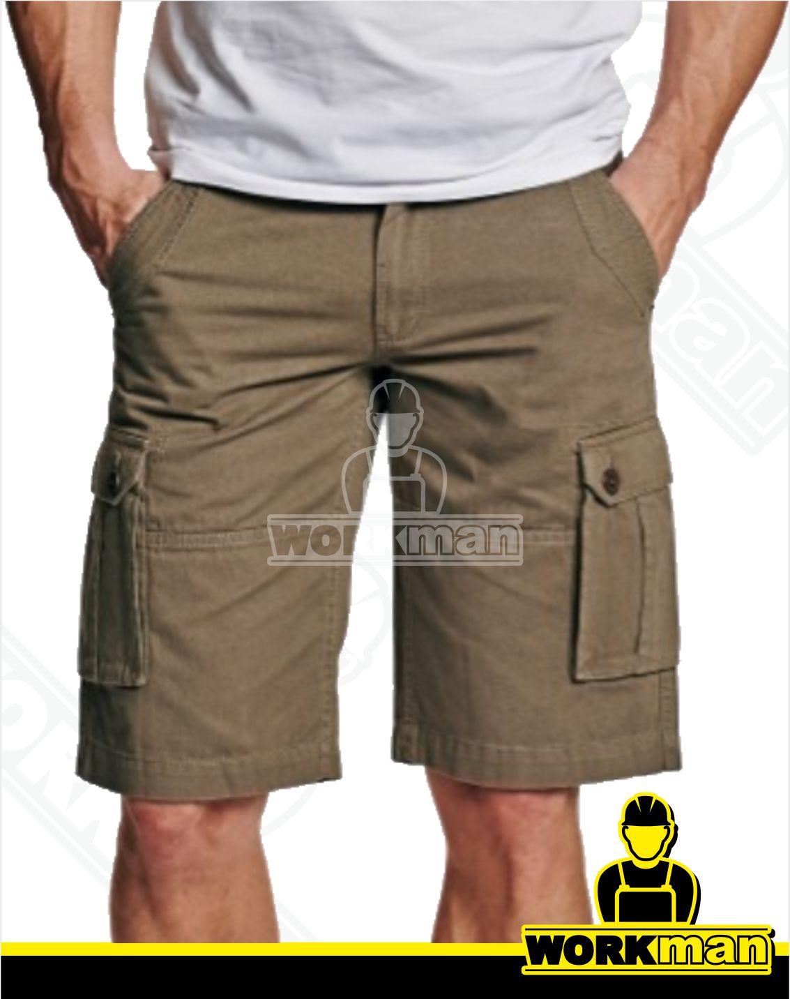 f0e41a516561 Outdoorové šortky CHENA Crv Červa béžová Pracovné odevy WORKMAN