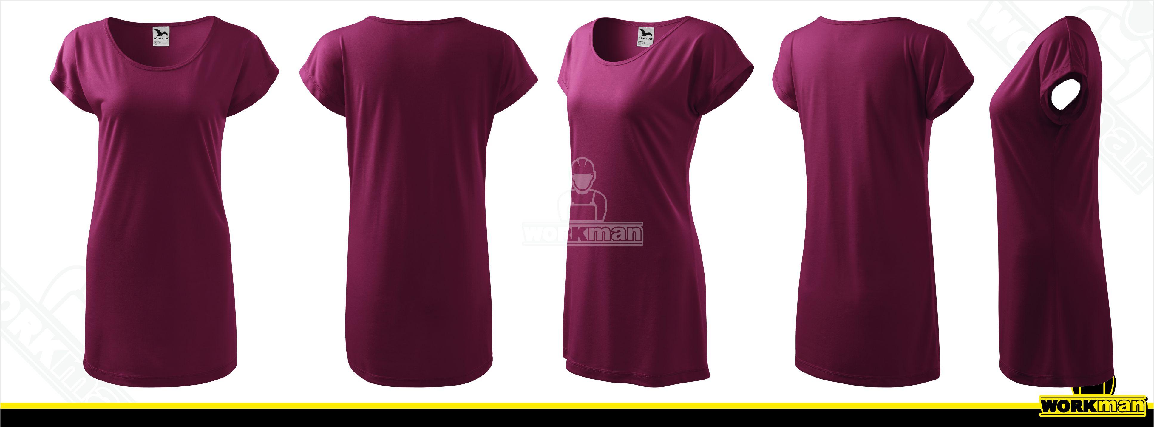 b9a8a2cf71 Dámske tričko šaty LOVE Malfini Pracovné odevy WORKMAN