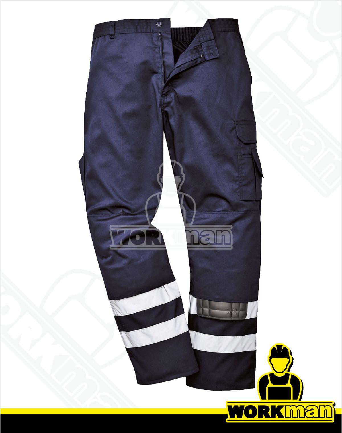 67b09f2a7 Reflexné nohavice IONA S917 Portwest tmavomodrá Pracovné odevy WORKMAN