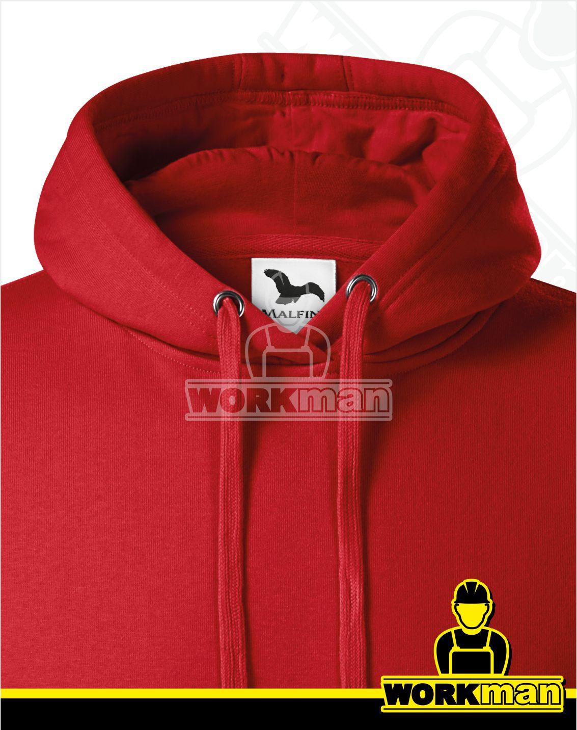 b67c332eadad Mikina pánska s kapucňou CAPE Malfini červená Pracovné odevy WORKMAN