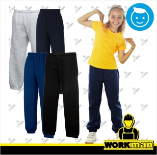 Detské tepláky KIDS CLASSIC ELASTICATED CUFF JOG PANTS Fruit of the Loom