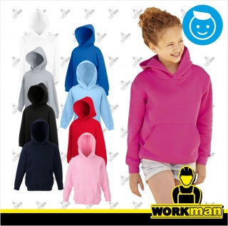 Detská mikina s kapucňou KIDS PREMIUM HOODED SWEAT Fruit of the Loom